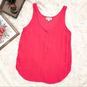 Anthropologie Cloth & Stone Pink Sheer Tank Top